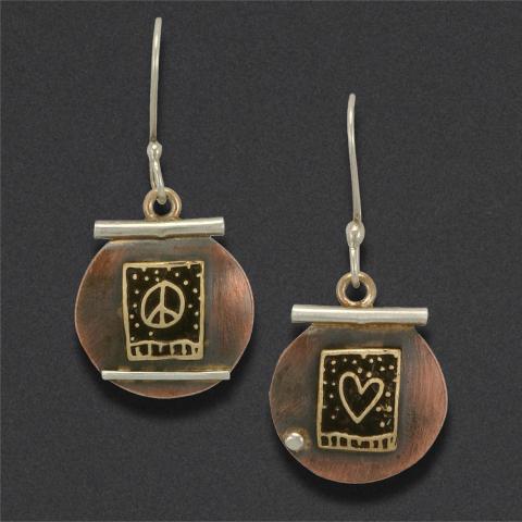 earring: sterling silver, brass, copper